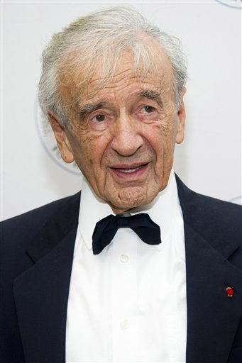 <div class='meta'><div class='origin-logo' data-origin='AP'></div><span class='caption-text' data-credit='Charles Sykes/Invision/AP'>Elie Wiesel attends The Elie Wiesel Foundation For Humanity's Arts for Humanity Gala.</span></div>
