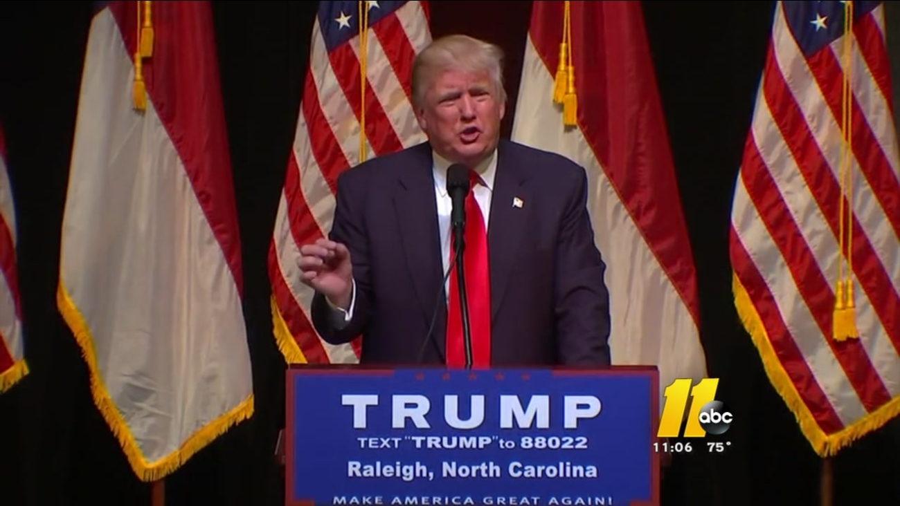 Trump in Raleigh