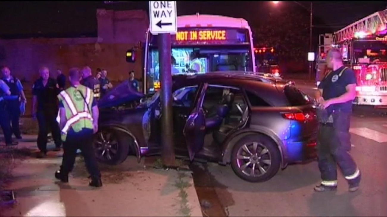 Five people are recovering after a CTA bus collided with an SUV late Wednesday night near 13th and Pulaski on Chicago's West Side.