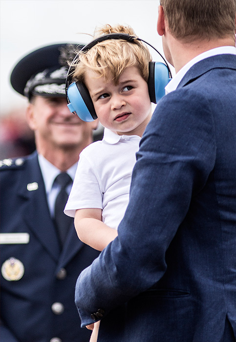 "<div class=""meta image-caption""><div class=""origin-logo origin-image ap""><span>AP</span></div><span class=""caption-text"">Prince George, wears ear defenders as he visits with his father Prince William the Royal International Air Tattoo at RAF Fairford in England, Friday, July 8, 2016. (Richard Pohle/ Pool photo via AP)</span></div>"