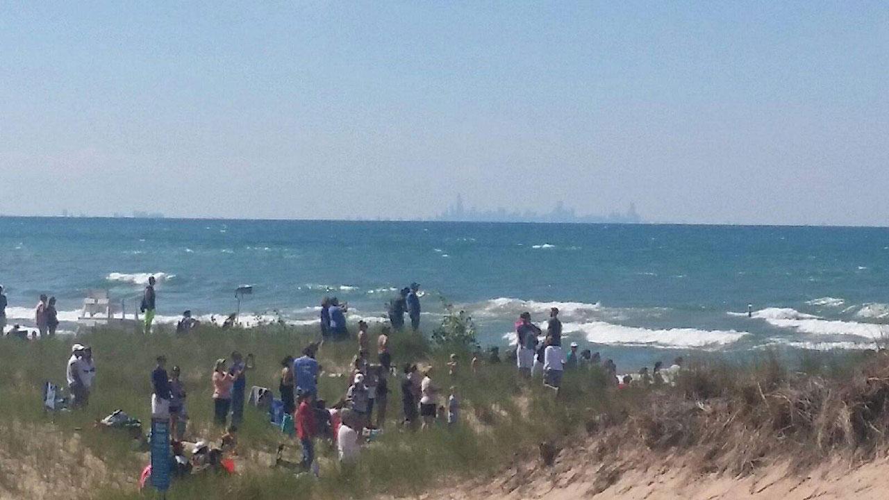 Marquette Beach in Miller Beach community of Gary, Indiana