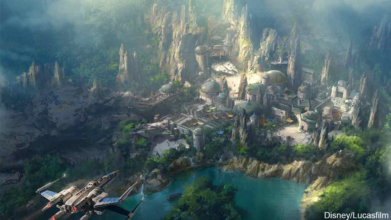 This artist concept image gives a glimpse of what the new 'Star Wars'-themed land would look like in Disneyland.