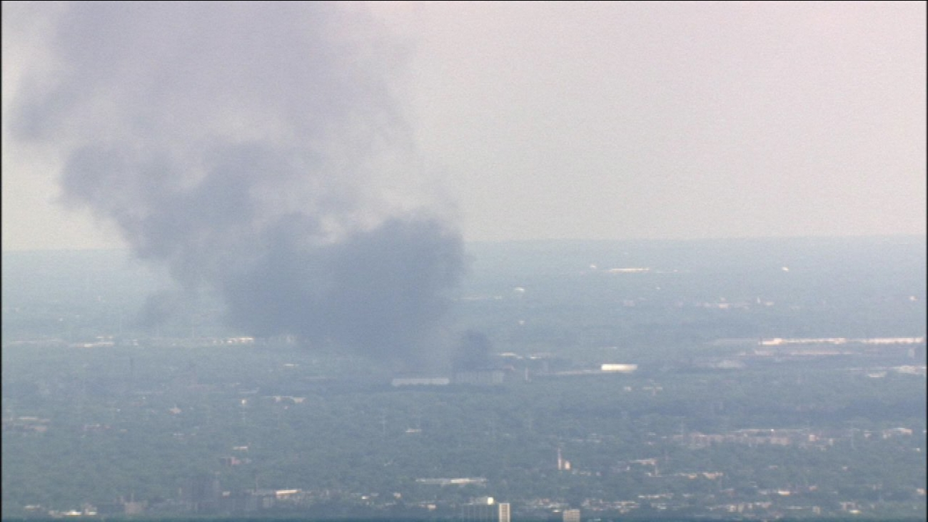 Fire at a scrap yard on East 106th Street on Chicago's Southeast Side.
