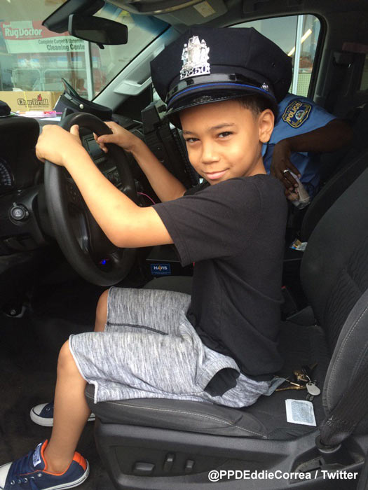"""<div class=""""meta image-caption""""><div class=""""origin-logo origin-image wpvi""""><span>WPVI</span></div><span class=""""caption-text"""">Philadelphia Police Officer Eddie Correa of the 26th District says young Jaden's grandmother wanted her grandson to meet a policeman.</span></div>"""