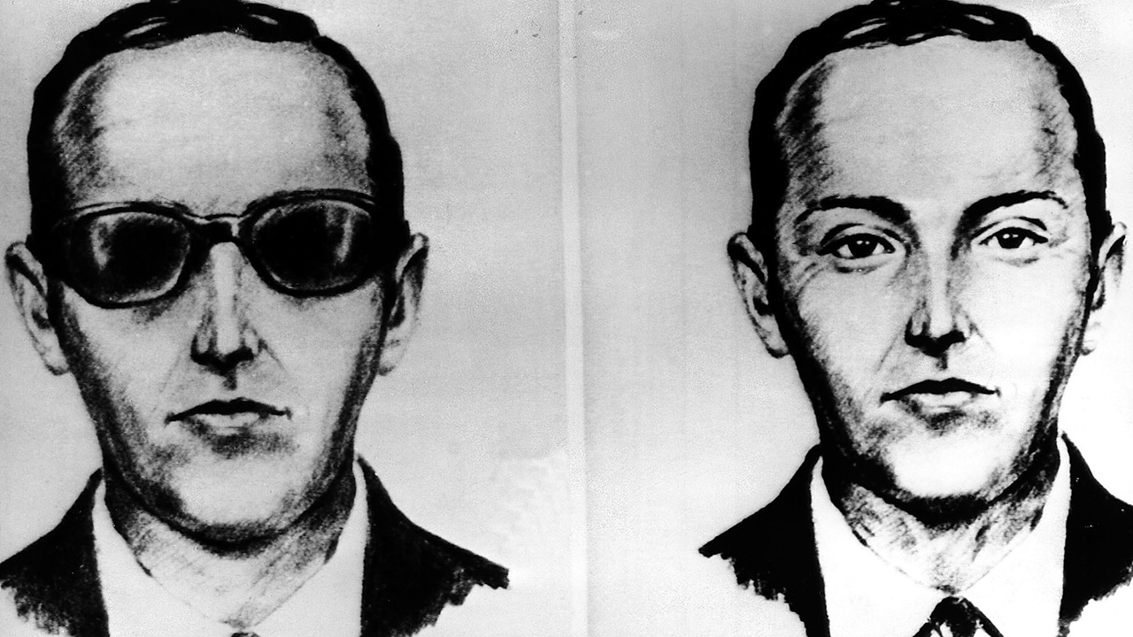 This undated artist' sketch shows the skyjacker known as D.B. Cooper from recollections of the passengers and crew of a Northwest Airlines jet he hijacked