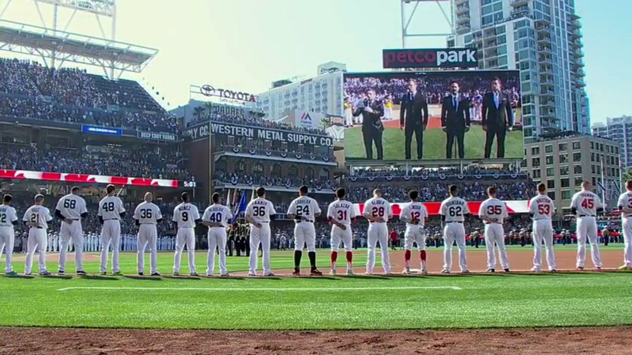 "A member of a Canadian singing quartet changed a lyric in his country's national anthem to support ""All Lives Matter"" during a performance at baseball's All-Star Game."