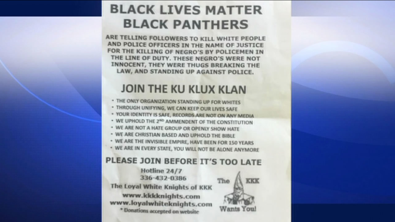 This image shows a KKK recruitment flyer that was handed out in the Upper Haight District of San Francisco.