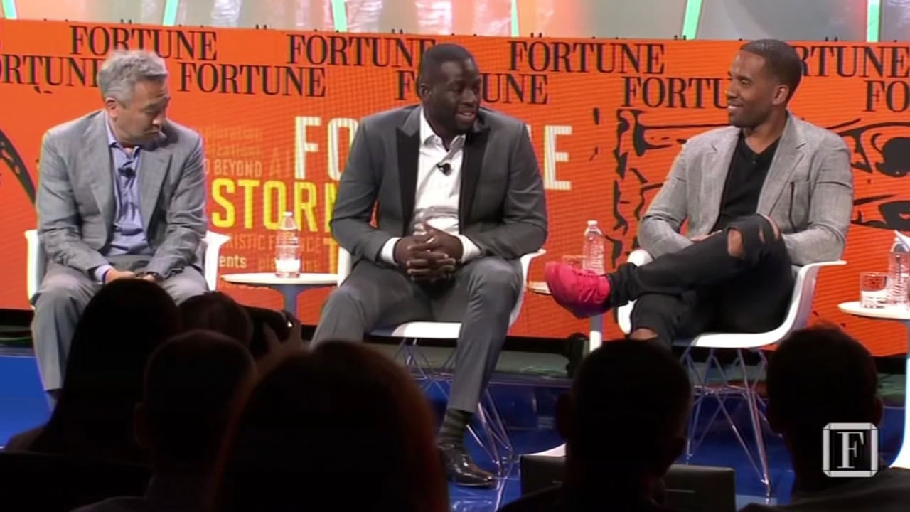 This image shows Warriors' Draymond Green at a Fortune magazine tech event Tuesday July 12, 2016 in Aspen, Colorado.