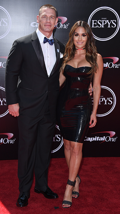 "<div class=""meta image-caption""><div class=""origin-logo origin-image ap""><span>AP</span></div><span class=""caption-text"">Professional wrestler/actor John Cena, left, and professional wrestler Nikki Bella, arrive at the ESPY Awards at the Microsoft Theater on Wednesday, July 13, 2016, in Los Angeles. (Jordan Strauss/Invision/AP)</span></div>"