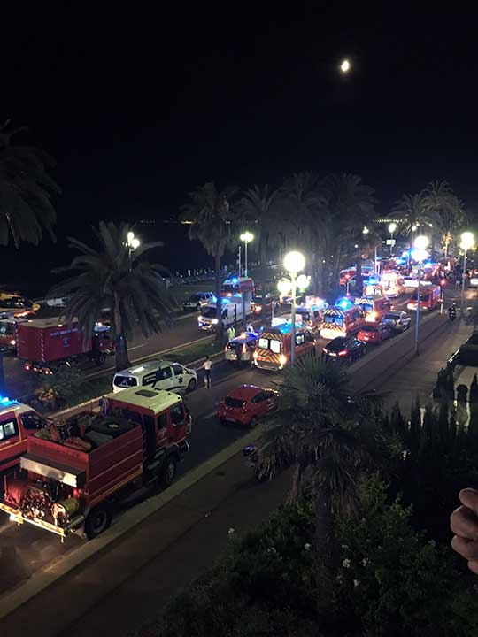 "<div class=""meta image-caption""><div class=""origin-logo origin-image none""><span>none</span></div><span class=""caption-text"">Security and medical teams work on the famed Promenade des Anglais, scene of the truck attack, in Nice, southern France, early Friday, July 15, 2016. (Sinan Baykent/AP Photo)</span></div>"