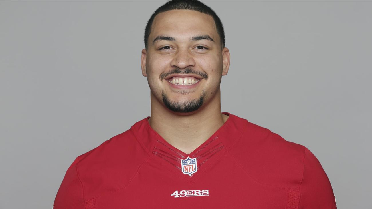 This is a 2016 photo of Aaron Lynch of the San Francisco 49ers NFL football team.