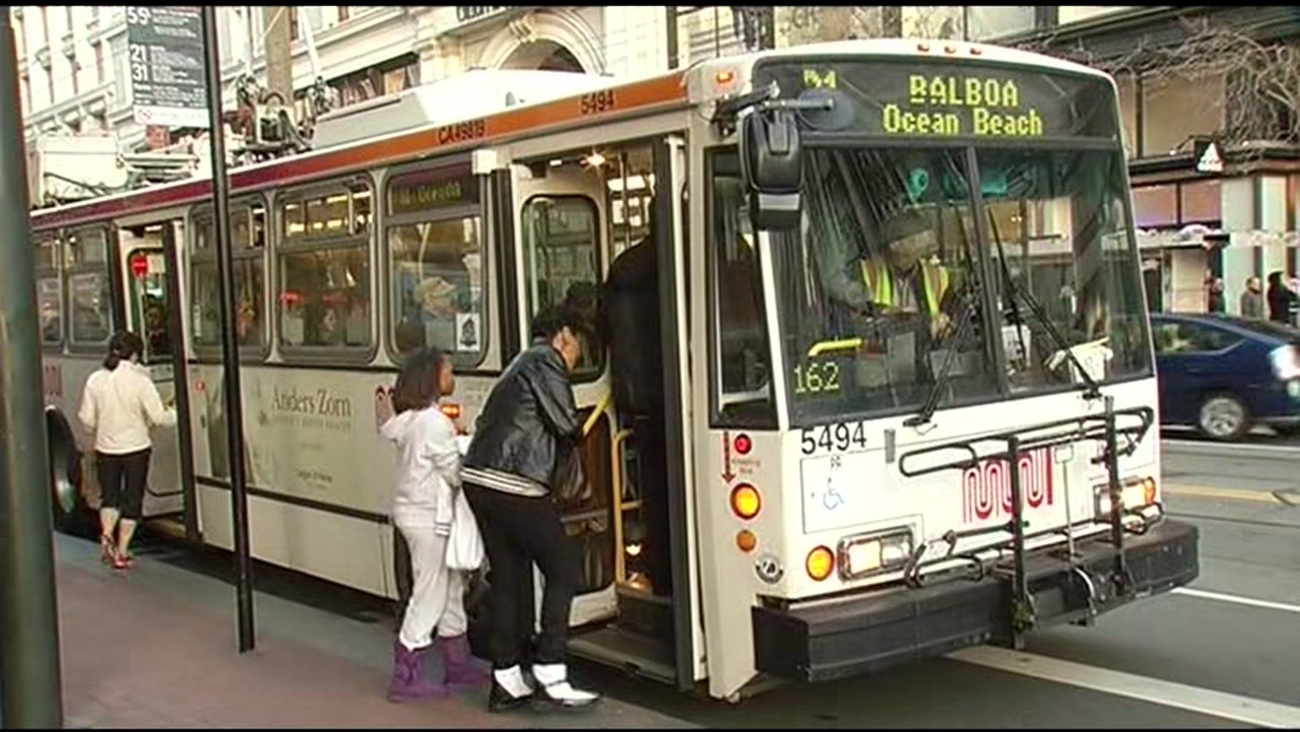 FILE - San Francisco Muni bus