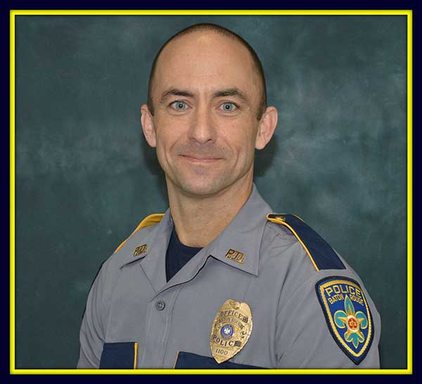 <div class='meta'><div class='origin-logo' data-origin='none'></div><span class='caption-text' data-credit='Baton Rouge Police Dept. via AP'>This undated photo made available by the Baton Rouge Police Dept. shows police officer Matthew Gerald. Gerald, 41, was one of the officers killed.</span></div>