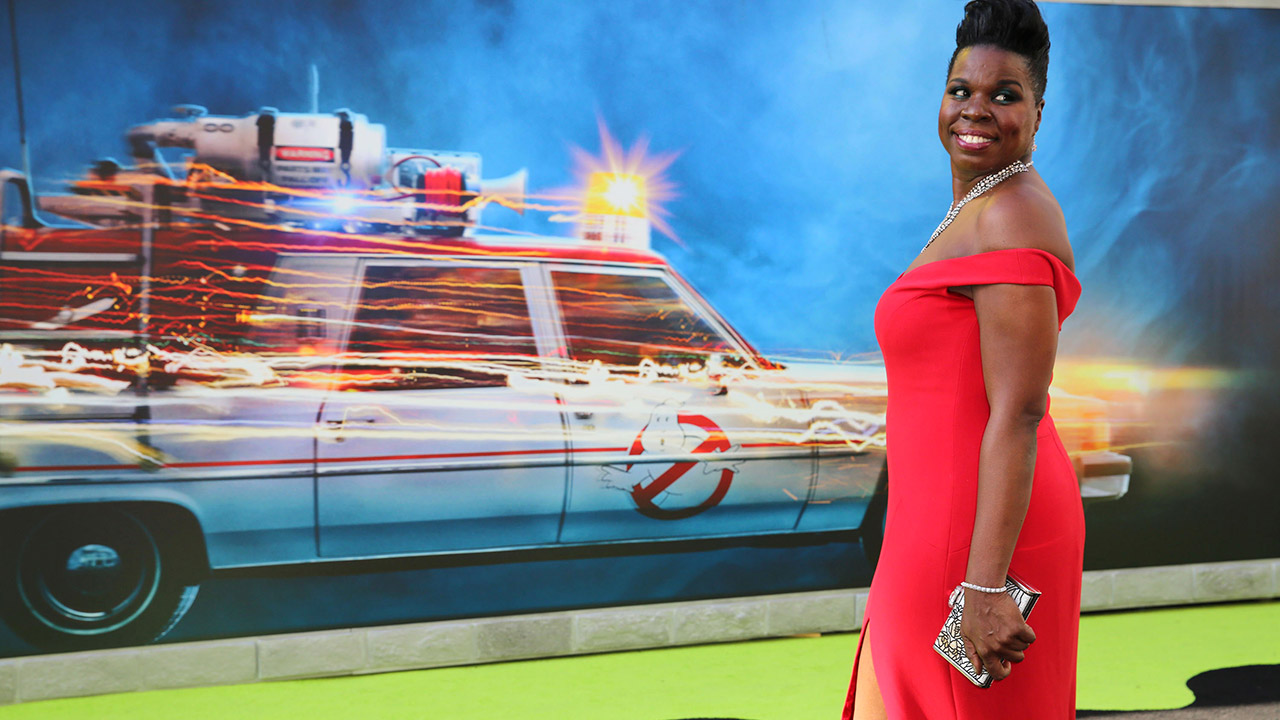 "Leslie Jones is seen at the Los Angeles Premiere of Columbia Pictures' ""Ghostbusters"" at TCL Chinese Theatre on Saturday, July 9, 2016, in Los Angeles."