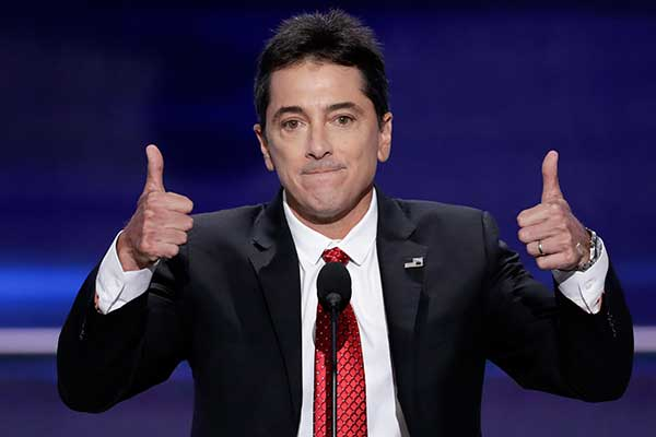 <div class='meta'><div class='origin-logo' data-origin='none'></div><span class='caption-text' data-credit='J. Scott Applewhite/AP Photo'>Actor Scott Baio gives two thumbs up after addressing the delegates during the opening day of the Republican National Convention in Cleveland.</span></div>
