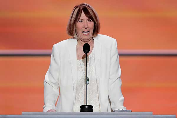 <div class='meta'><div class='origin-logo' data-origin='none'></div><span class='caption-text' data-credit='J. Scott Applewhite/AP Photo'>Pat Smith, mother of Benghazi victim Sean Smith speaks during the opening day of the Republican National Convention in Cleveland, Monday, July 18, 2016.</span></div>