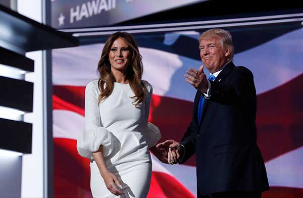 "<div class=""meta image-caption""><div class=""origin-logo origin-image none""><span>none</span></div><span class=""caption-text"">Melania Trump, wife of Republican Presidential Candidate Donald Trump walks to the stage as Donald Trump introduces her during the opening day of the Republican National Convention (Carolyn Kaster/AP Photo)</span></div>"