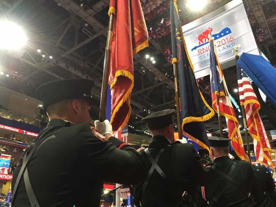 "<div class=""meta image-caption""><div class=""origin-logo origin-image ktrk""><span>KTRK</span></div><span class=""caption-text"">With the bang of a gavel, a pledge of allegiance, and a call to prayer, the 2016 Republican National Convention officially kicked off</span></div>"