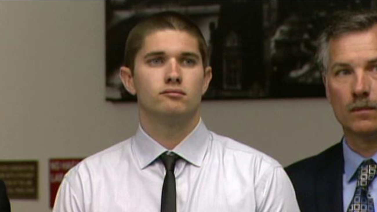Nick Papageorge's IV appears in a Santa Ana courtroom on Wednesday, May 22, 2013.