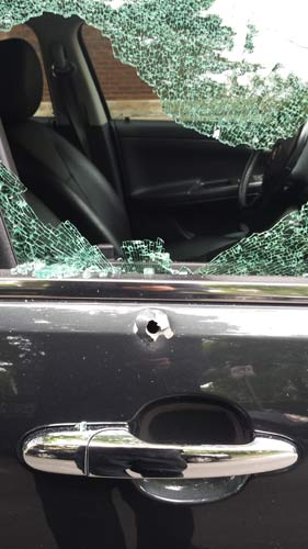 """<div class=""""meta image-caption""""><div class=""""origin-logo origin-image wls""""><span>WLS</span></div><span class=""""caption-text"""">A vehicle damaged by gunfire in the 2600-block of W. Eastwood on July 18, 2016. (Lyle Sande)</span></div>"""