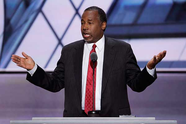 <div class='meta'><div class='origin-logo' data-origin='none'></div><span class='caption-text' data-credit='J. Scott Applewhite/AP Photo'>Dr. Ben Carson, former Republican Presidential Candidate, speaks during the second day of the Republican National Convention in Cleveland.</span></div>