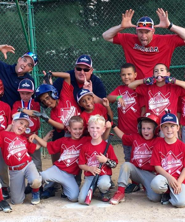 <div class='meta'><div class='origin-logo' data-origin='none'></div><span class='caption-text' data-credit=''>Horsham Little League 7yo Tournament Team celebrating after a big win</span></div>