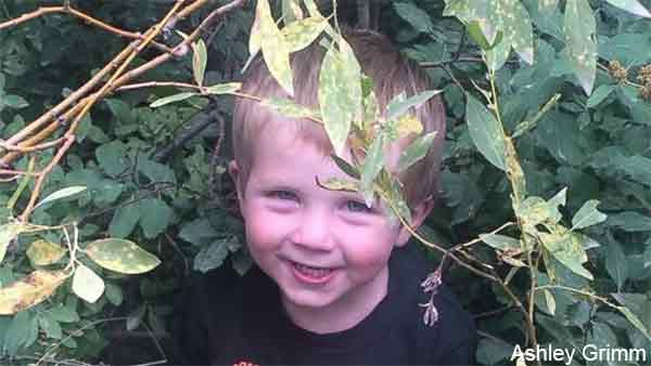 Titus Grimm, 4, is seen in an undated photo.