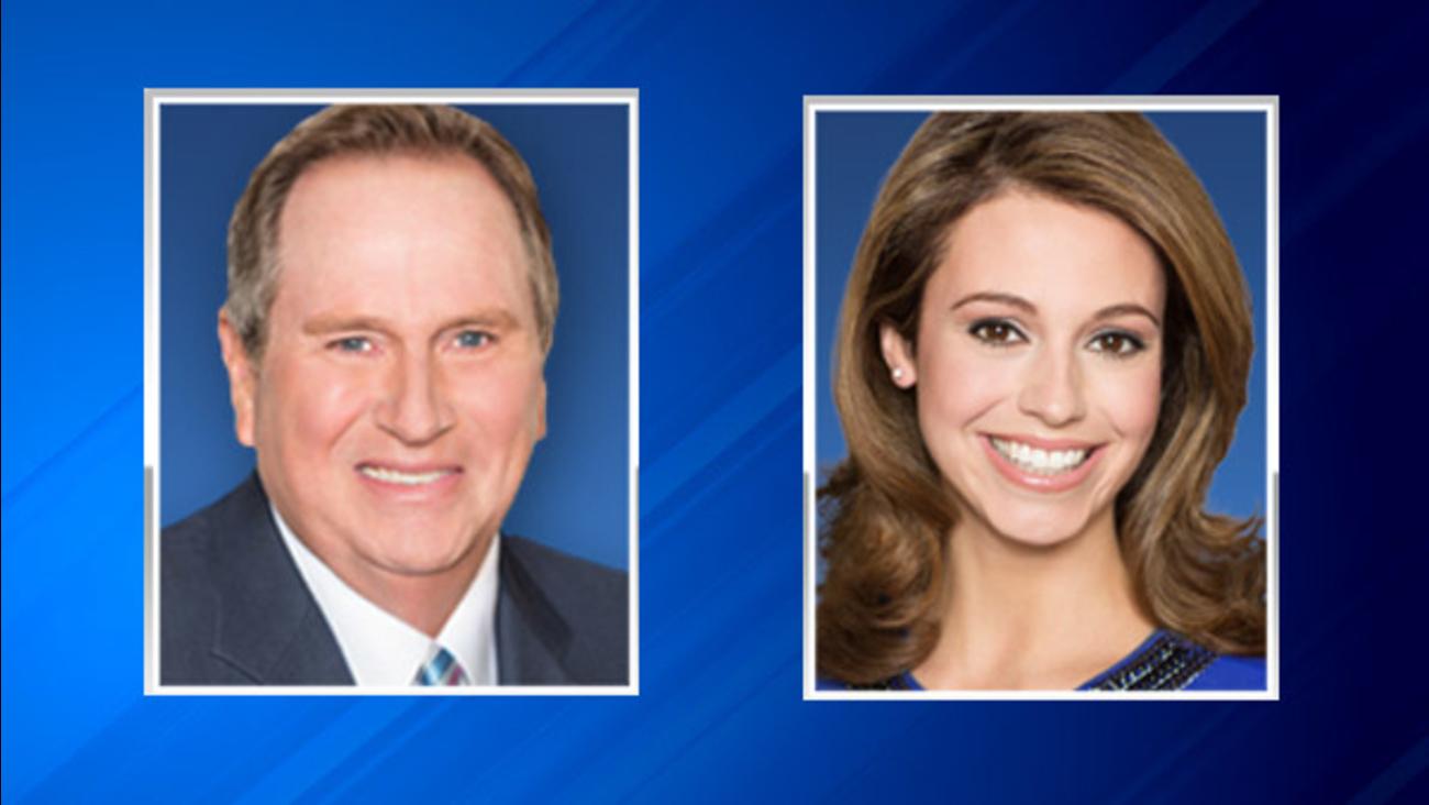 ABC7 Chicago Meteorologists Jerry Taft and Cheryl Scott.
