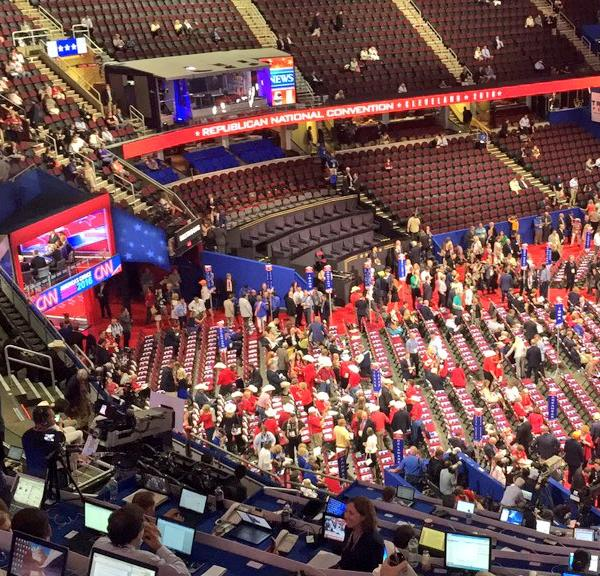 "<div class=""meta image-caption""><div class=""origin-logo origin-image none""><span>none</span></div><span class=""caption-text"">A large crowd is seen inside the Quicken Loans Arena during the Republican National Convention in Cleveland, Ohio on Wednesday, July 20, 2016. (KGO-TV)</span></div>"