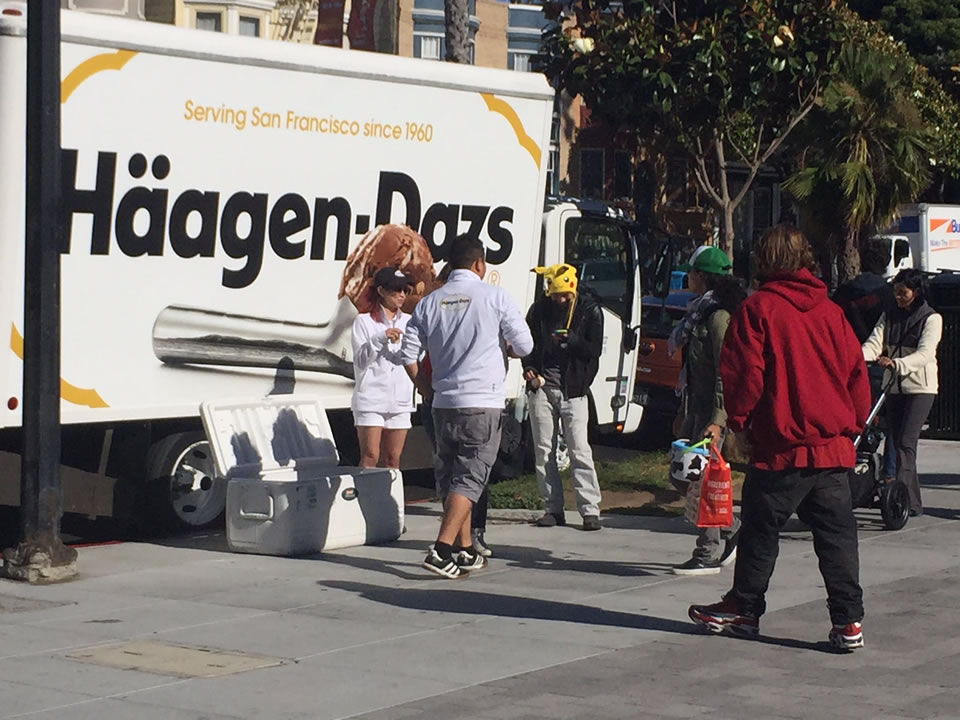 """<div class=""""meta image-caption""""><div class=""""origin-logo origin-image none""""><span>none</span></div><span class=""""caption-text"""">Pokemon Go players hang out at a Haagen Daz truck near Dolores Park in San Francisco ahead of an event on Wednesday, July 20, 2016. (Katie Marzullo/KGO-TV)</span></div>"""