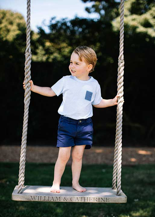 "<div class=""meta image-caption""><div class=""origin-logo origin-image none""><span>none</span></div><span class=""caption-text"">Prince George plays on a swing at Sandringham in Norfolk, England. (Matt Porteous/Handout via AP)</span></div>"