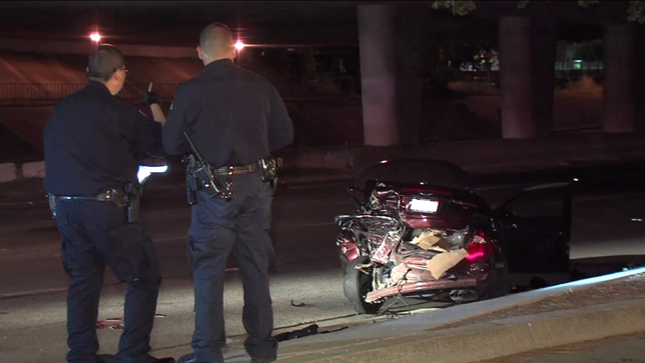 San Jose police are investigate hit-and-run that sent four men to the hospital, Friday, July 22, 2016.