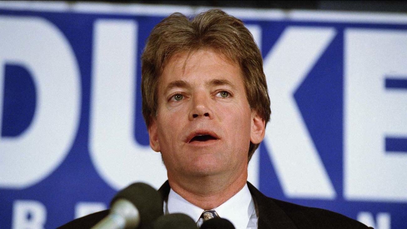 Former KKK Grand Wizard and presidential candidate Duke David speaks in 1991