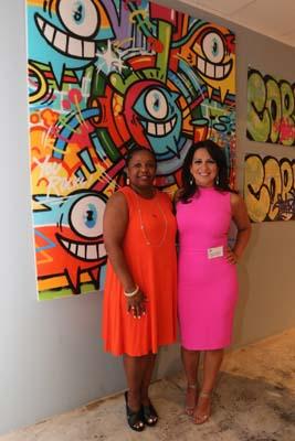 "<div class=""meta image-caption""><div class=""origin-logo origin-image none""><span>none</span></div><span class=""caption-text"">Christina Morales with Carme Williams (Houston Community College)</span></div>"