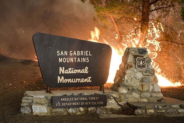 "<div class=""meta image-caption""><div class=""origin-logo origin-image ap""><span>AP</span></div><span class=""caption-text"">A maker at the entrance of the Angeles National Forest burns on Saturday, July 23, 2016. (AP Photo/Ryan Babroff)</span></div>"