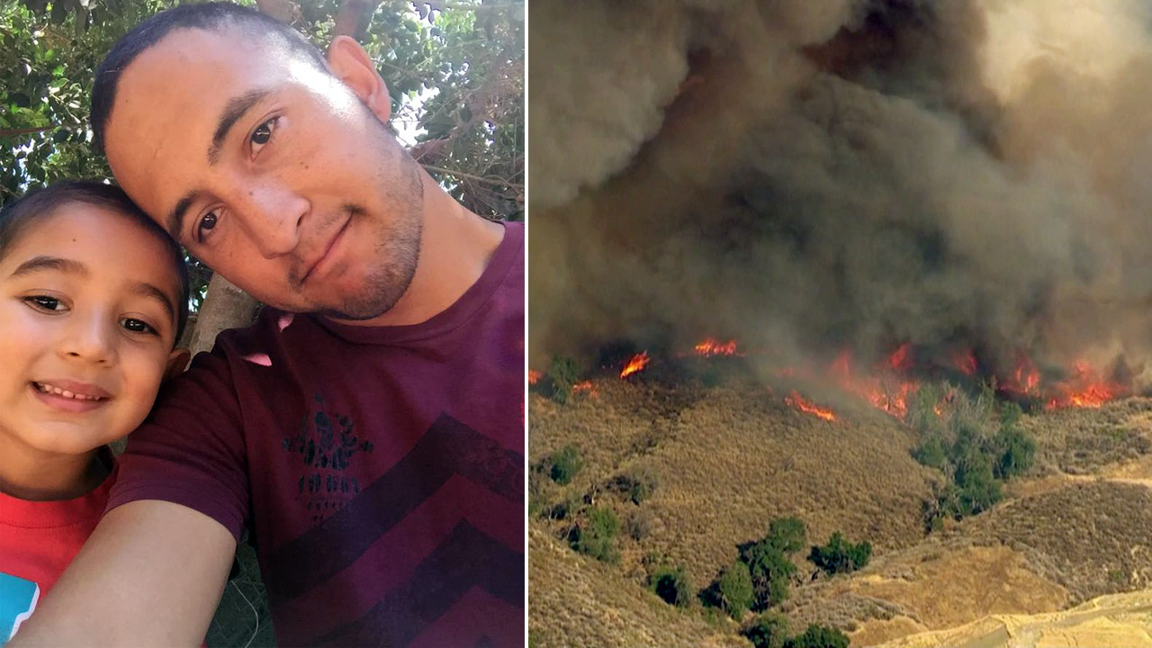 U.S. Forest Service firefighter Sergio Toscano's home was destroyed in the Sand Fire in Santa Clarita.