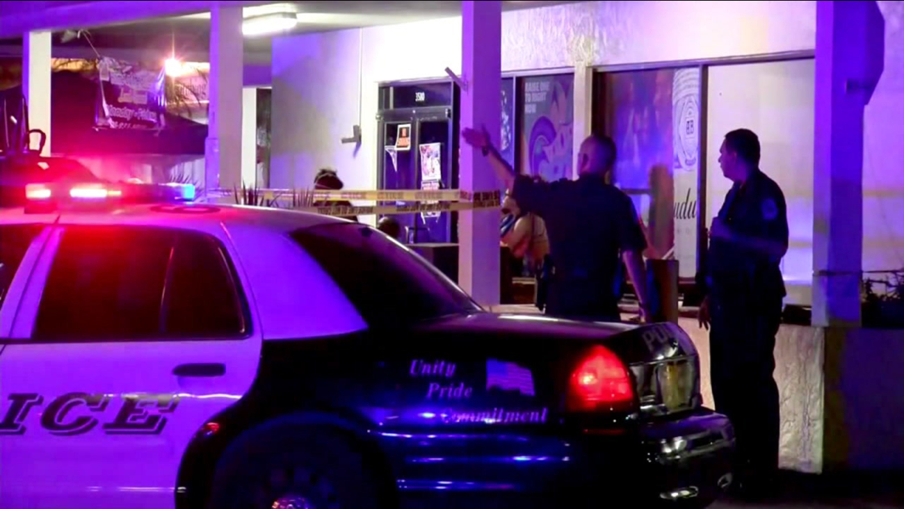 Police investigate shooting at nightclub in Fort Myers, Florida, Monday, July 25, 2016.