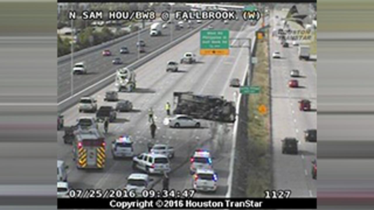 Fallbrook overturned truck