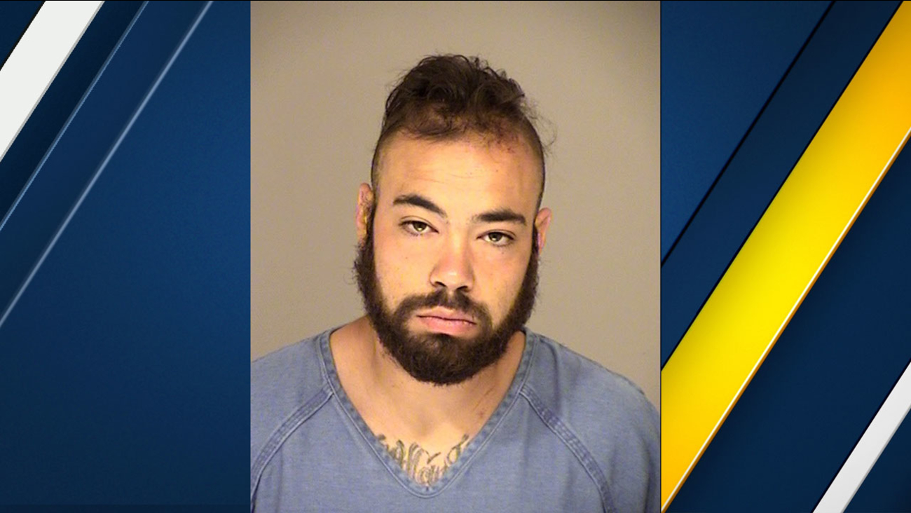 Victor Martinez, 24, can be seen in a booking photo provided by police.