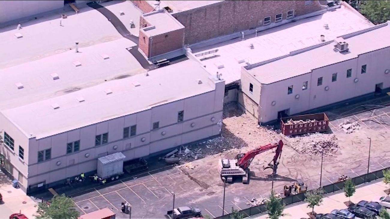Demolition begins at Harpo Studio