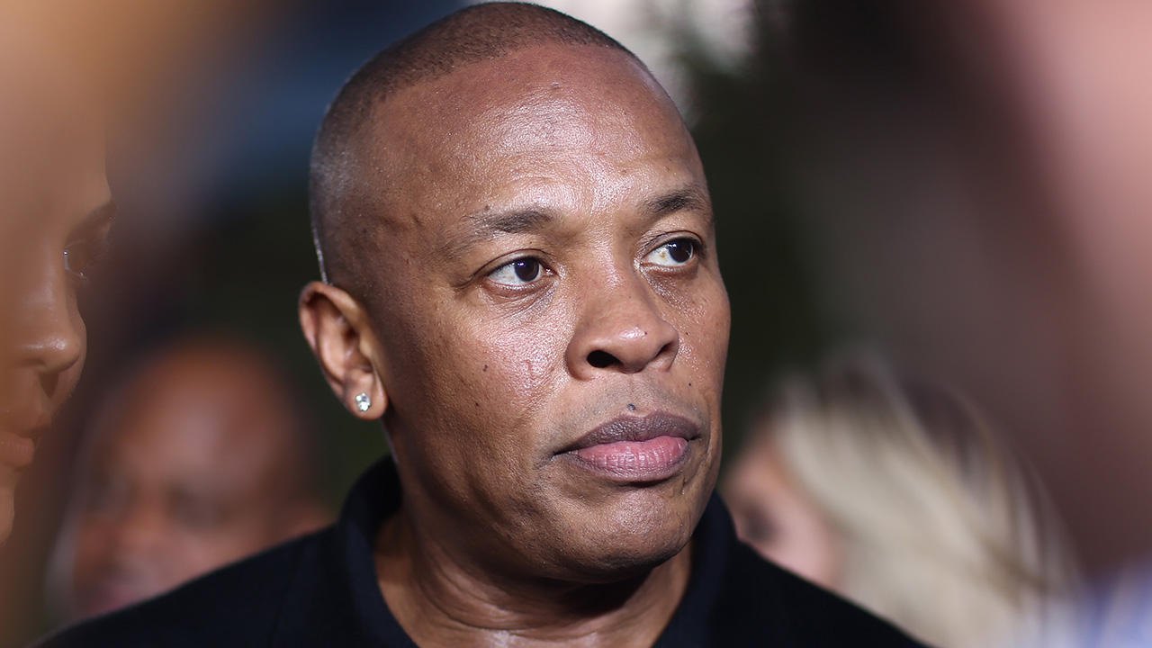 "Dr. Dre arrives at the Los Angeles premiere of ""Straight Outta Compton"" at the Microsoft Theater on Monday, Aug. 10, 2015."