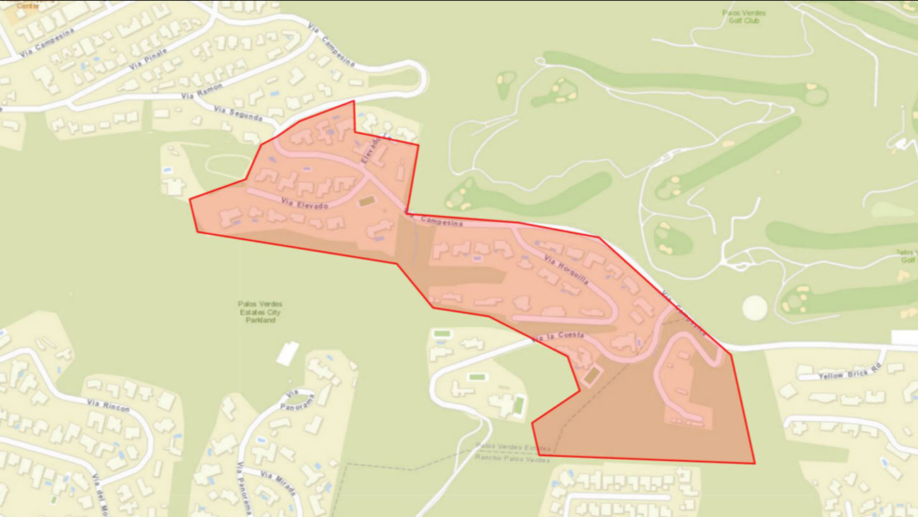 This map shows some of the areas impacted by a possible water storage tank breach with California Water Services.
