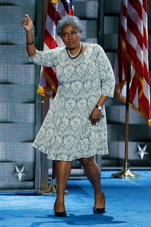 <div class='meta'><div class='origin-logo' data-origin='AP'></div><span class='caption-text' data-credit='J. Scott Applewhite/AP'>Democratic National Committee Vice Chair Donna Brazile dances off the stage during the second day of the Democratic National Convention in Philadelphia, July 26, 2016.</span></div>