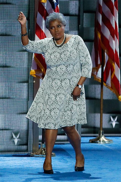 <div class='meta'><div class='origin-logo' data-origin='AP'></div><span class='caption-text' data-credit='J. Scott Applewhite/AP'>Democratic National Committee Vice Chair Donna Brazile dances off the stage during the second day of the Democratic National Convention in Philadelphia, July 26, 2016.</span></div>