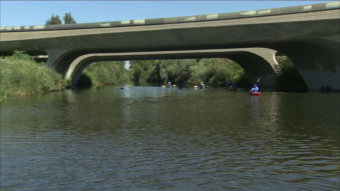While kayaking has become popular on the Los Angeles River, an environmental group is warning about high levels of fecal bacteria in the water.