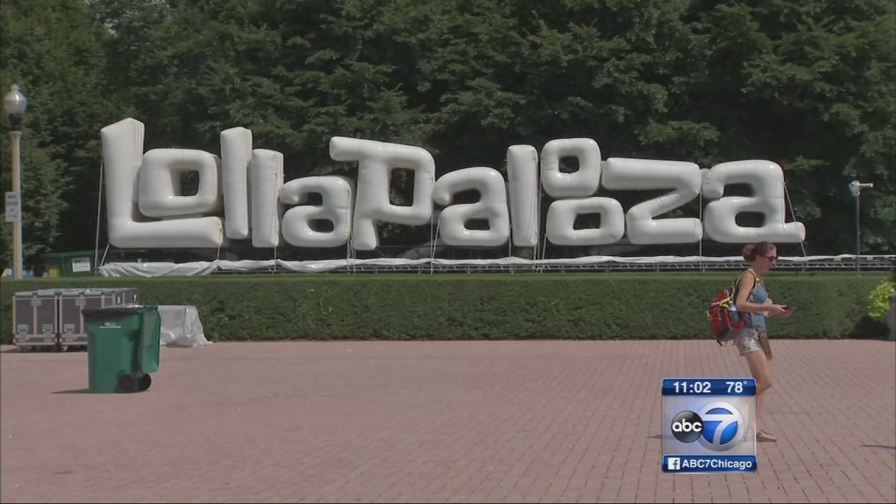 Final preps and security checks on eve of Lollapalooza
