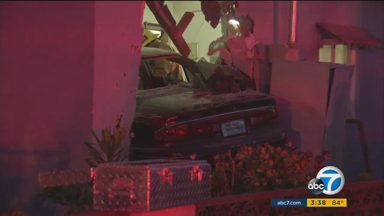 The aftermath of a deadly crash after a driver slammed into a Harbor Gateway home on Wednesday, July, 28, 2016.