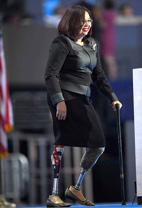 "<div class=""meta image-caption""><div class=""origin-logo origin-image none""><span>none</span></div><span class=""caption-text"">Rep. Tammy Duckworth, D-Ill., takes the stage during the final day of the Democratic National Convention in Philadelphia , Thursday, July 28, 2016. (Mark J. Terrill/AP Photo)</span></div>"