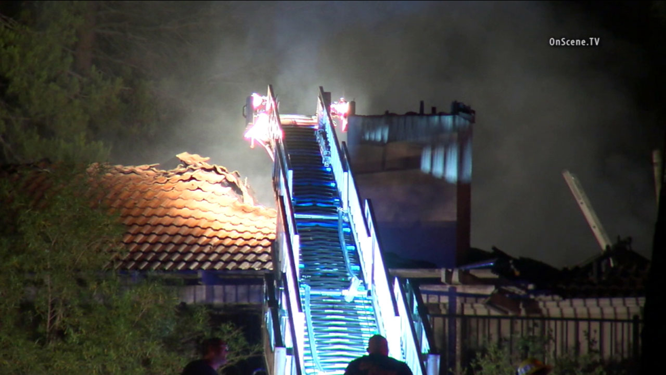 Firefighters worked to put out a fire in a Temecula home on Thursday, July 28, 2016.