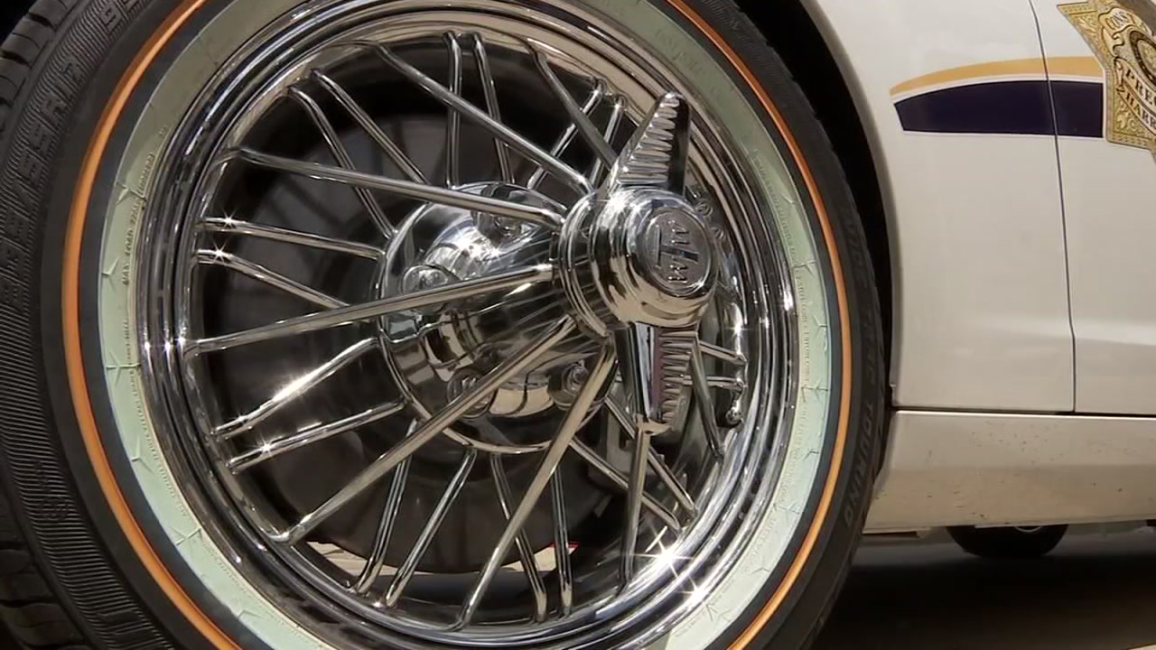 Patrol car gets tricked-out rims for community event | abc13.com